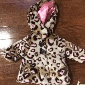 Other - Faux fur infant baby girl winter coat